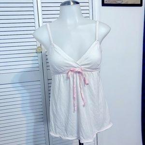 Victoria's Secret PINK White flowy ribbon top